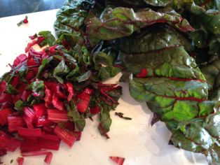 chopped chard small
