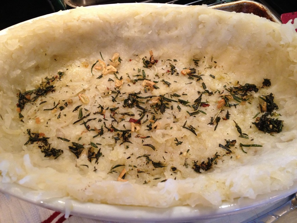 Rosemary in potatoes