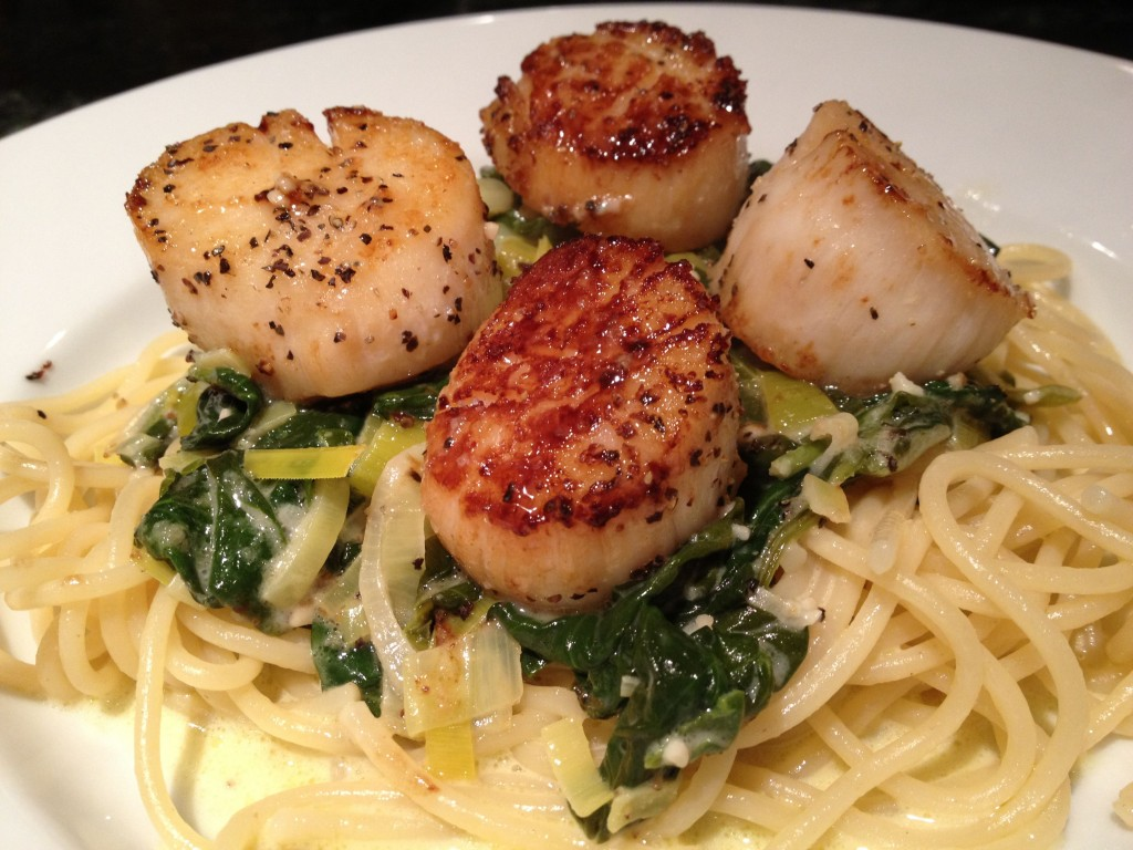 Seared scallops (Coquilles St. Jacques)