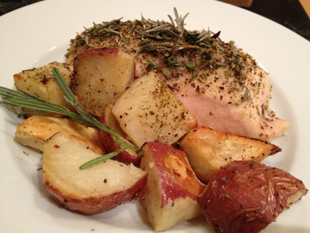 Rosemary Chicken and Roasted Red Potatoes