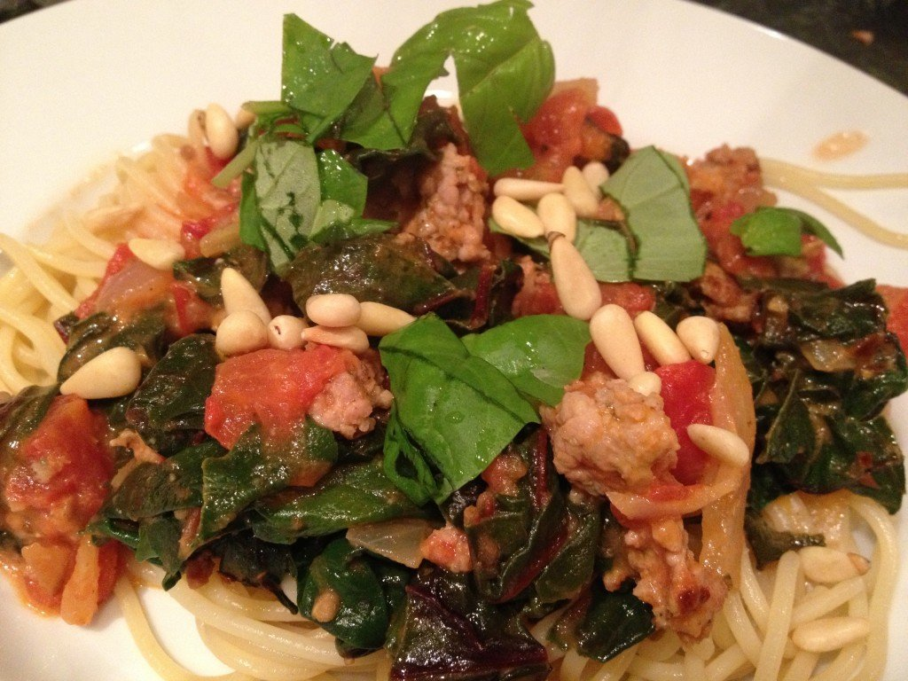 Fennel, Chard, and Sausage Pasta