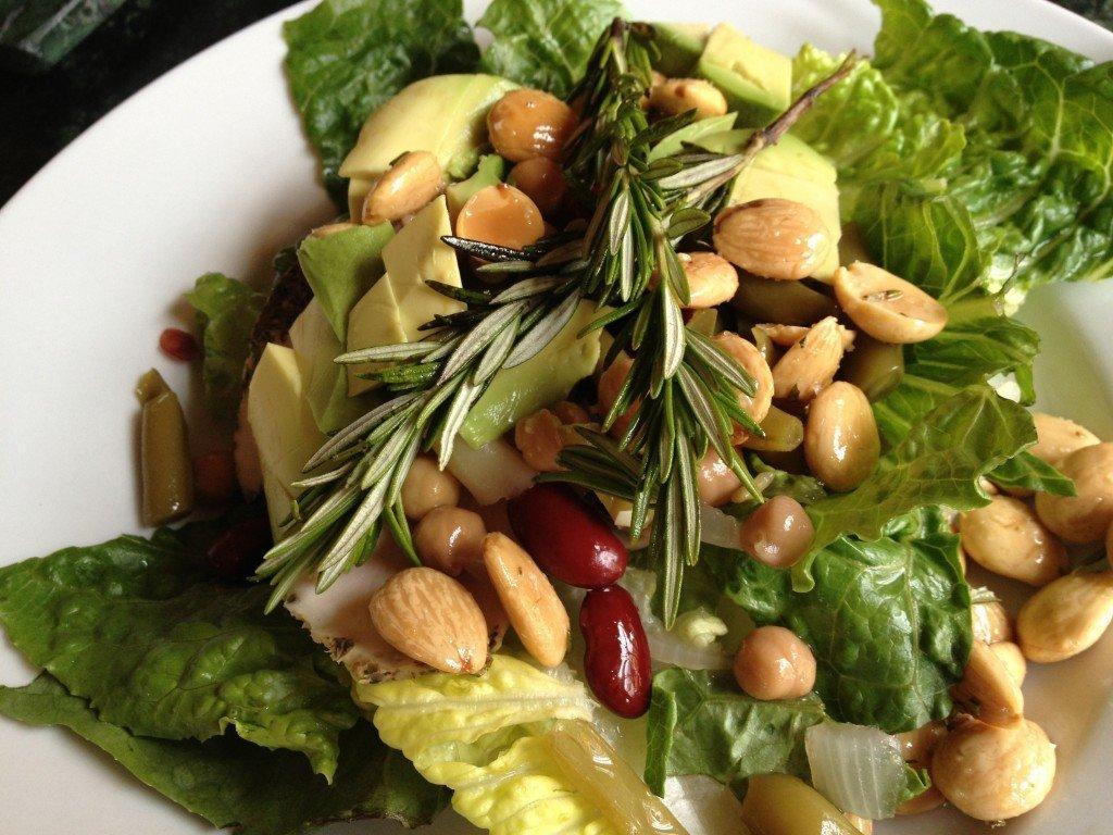 Fried Almond and Avocado Salad Recipe
