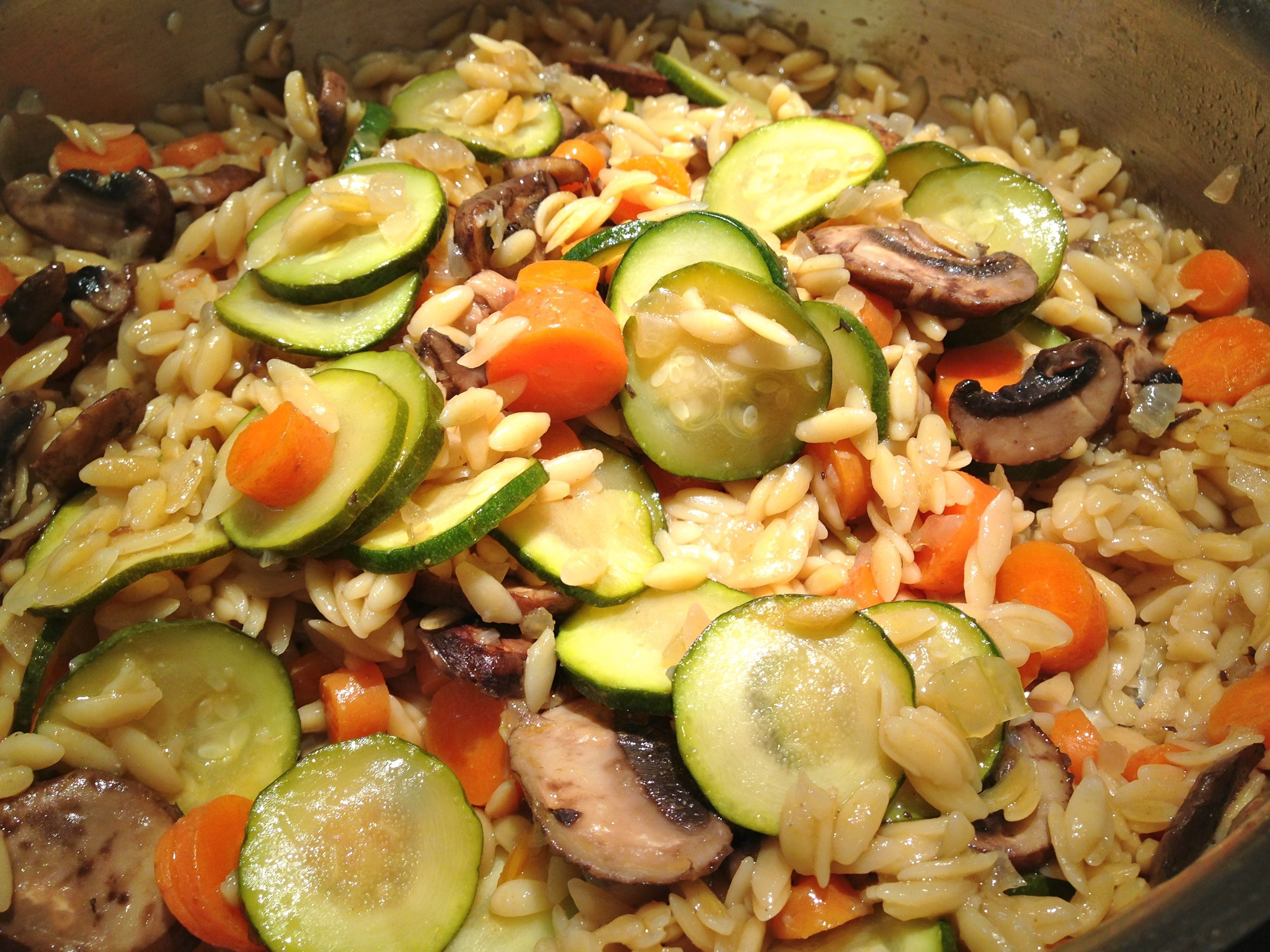 Mediterranean Orzo Salad With Grilled Vegetables Recipe — Dishmaps
