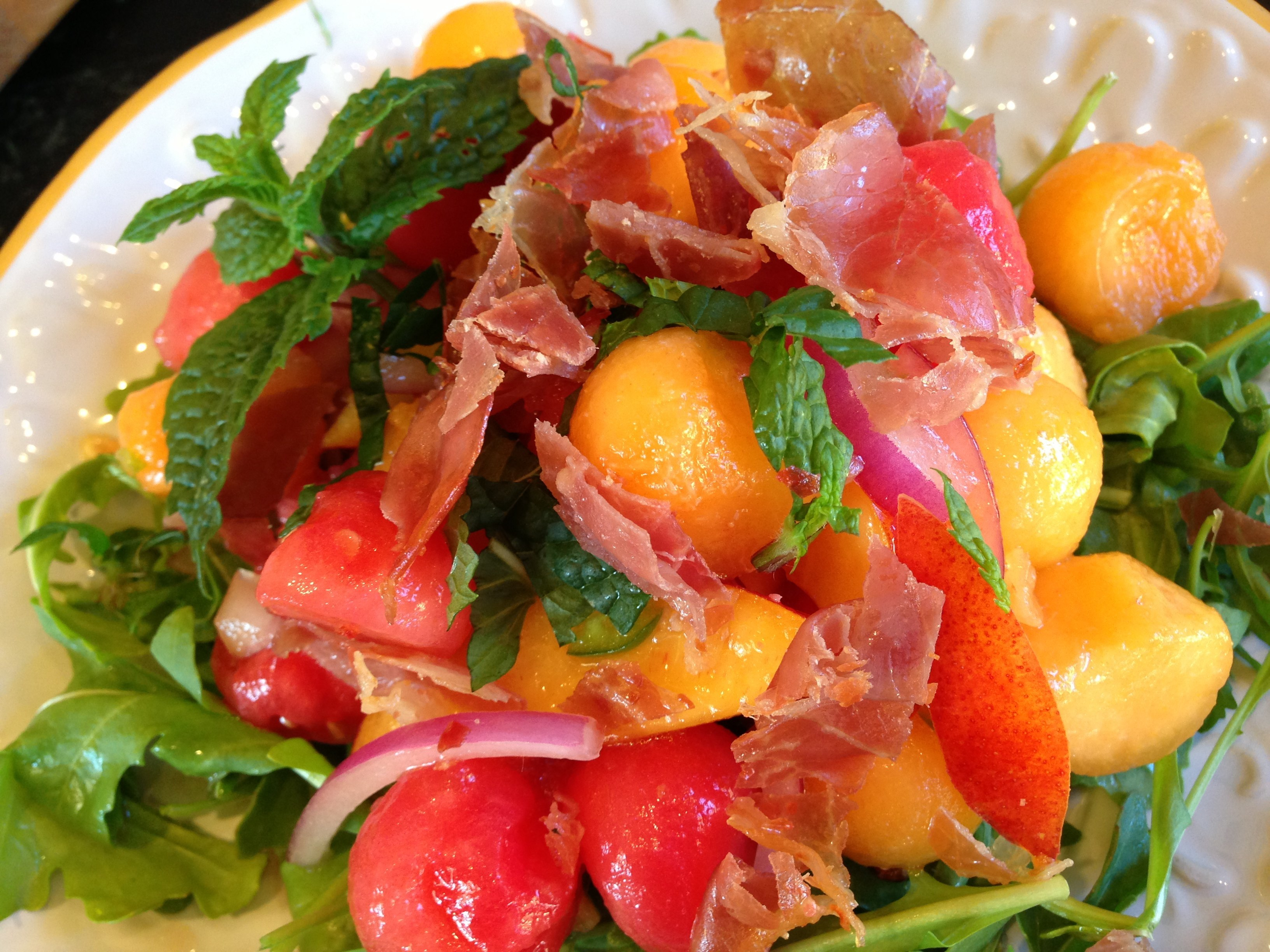 Melon, Mint, and Prosciutto Salad | The Brown Lounge
