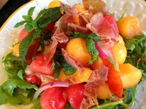 Melon, Mint, and Prosciutto Salad