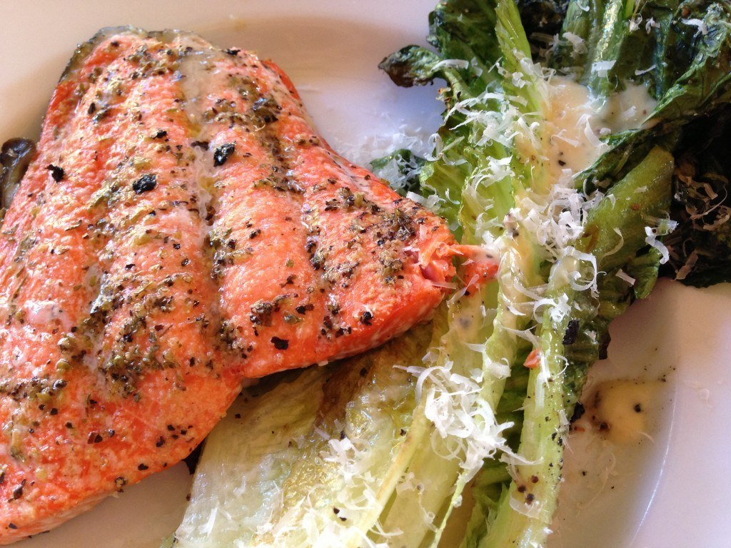Grilled Romain and Salmon Salad Recipes